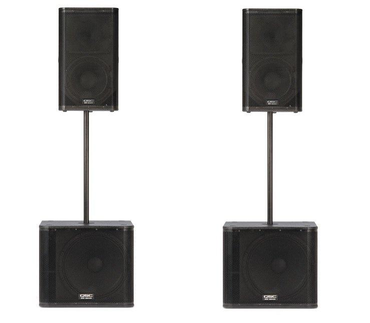 QSC KW SET-122 - активный комплект, 4000Вт, комплект из 2-х систем