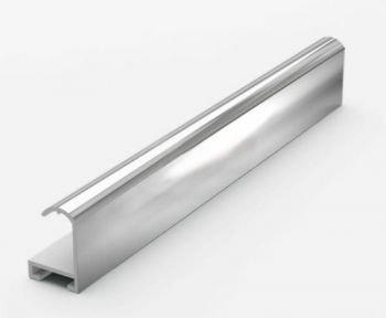 Анодированный алюминиевый профиль.3.05 м. Серебро Глянец №2 Nielsen 02003