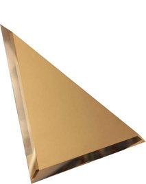 Треугольная зеркальная бронзовая матовая плитка с фацетом 10мм ТЗБм1-01 18х18