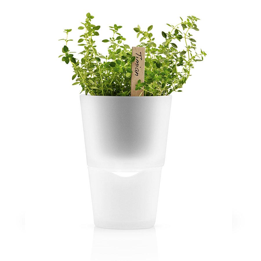 Горшок для растений с функцией самополива ?11 см матовое стекло Eva Solo