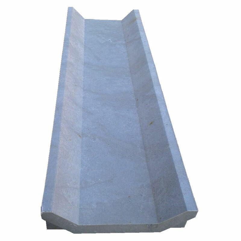 Лоток водоотводный полимерпесчаный 500х150х50 мм, серый