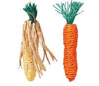 Игрушка для грызунов Trixie морковь и кукуруза 2шт 15см 6192
