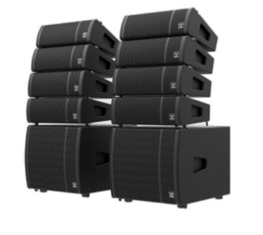 MOOSE LOUD SYSTEM - компактный активный линейный массив, 2000Вт, комплект из 2-х систем