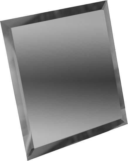 плитка Зеркальная плитка квадратная зеркальная графитовая с фацетом 10мм кзг1-03 - 250х250