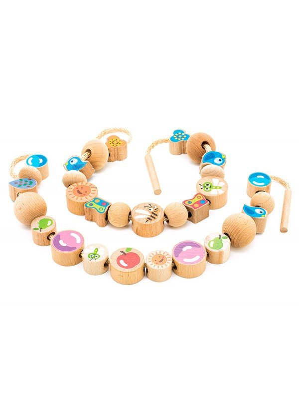 Бусы-цепочка Мир деревянных игрушек Ассорти