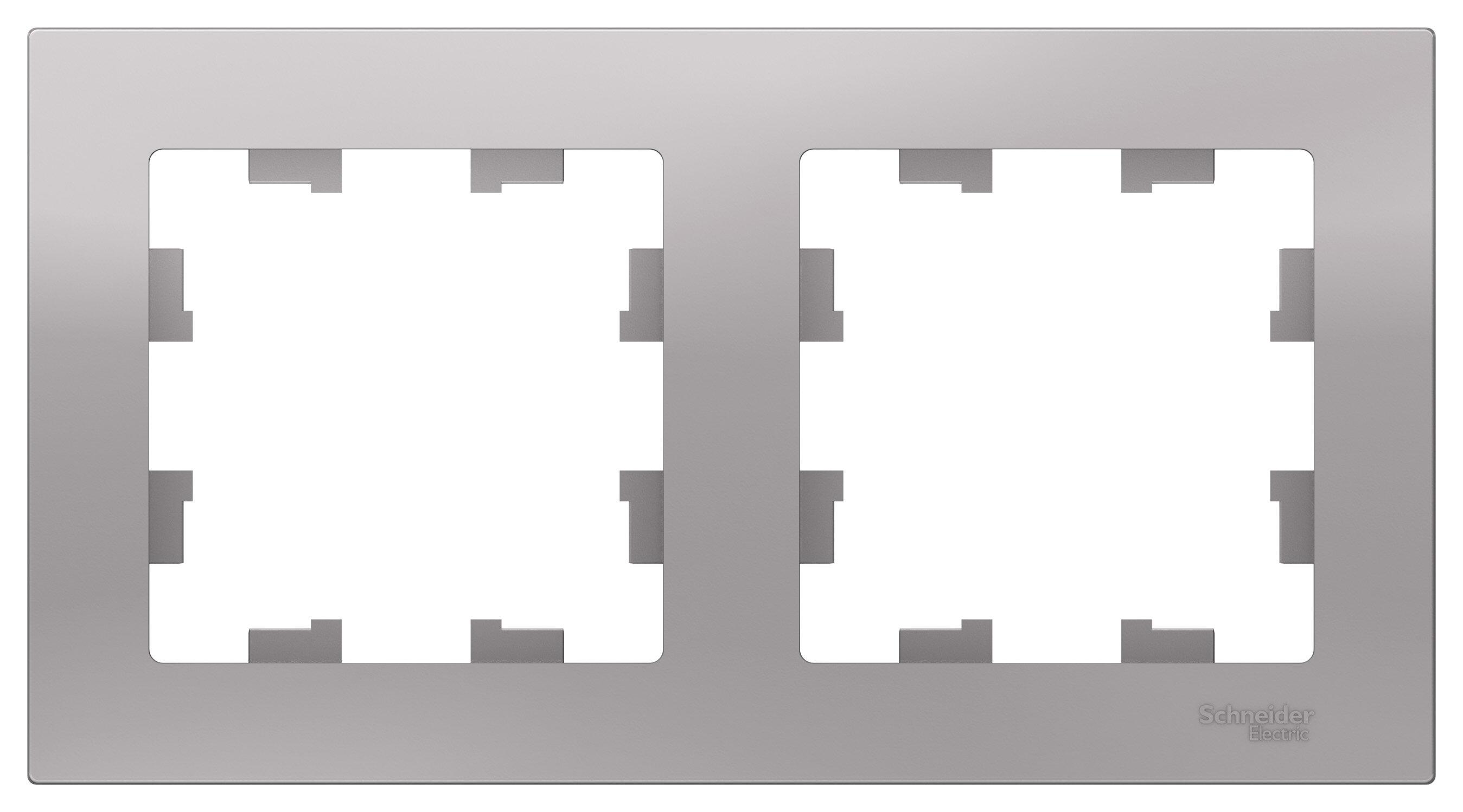 AtlasDesign Алюминий Рамка 2-ая, универсальная ATN000302 Schneider Electric AtlasDesign Алюминий Рамка 2-ая, универсальная
