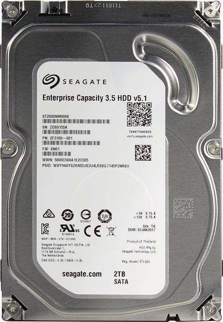 Жесткий диск Seagate Enterprise Capacity 3.5 ST2000NM0008
