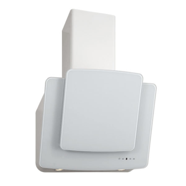 Вытяжка Кварц 60П-1000-Е4Г белый/белое стекло, Elikor, 841490