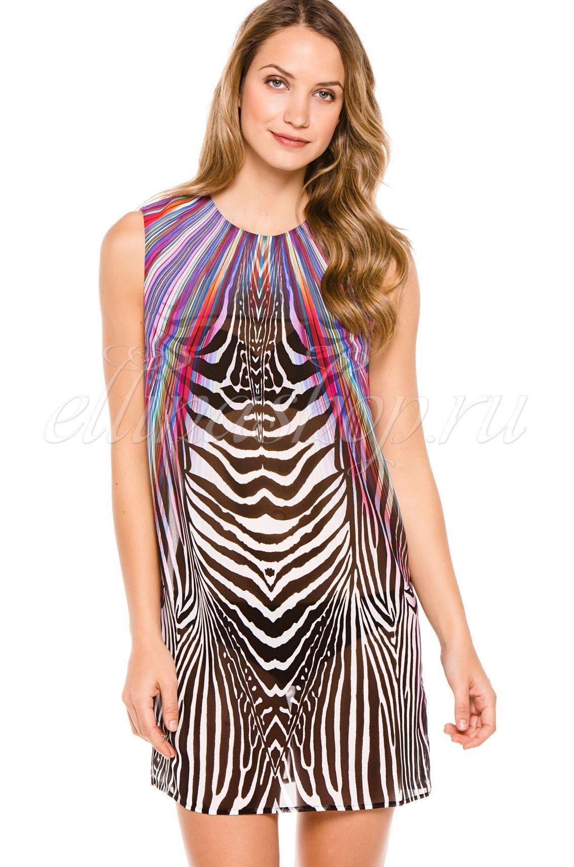 15RA676R Rainbow Zebra платье Gottex (разноцветный), 46