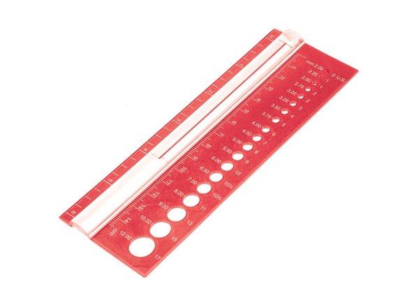 Линейка KNITPRO KnitPro, для определения номера спиц