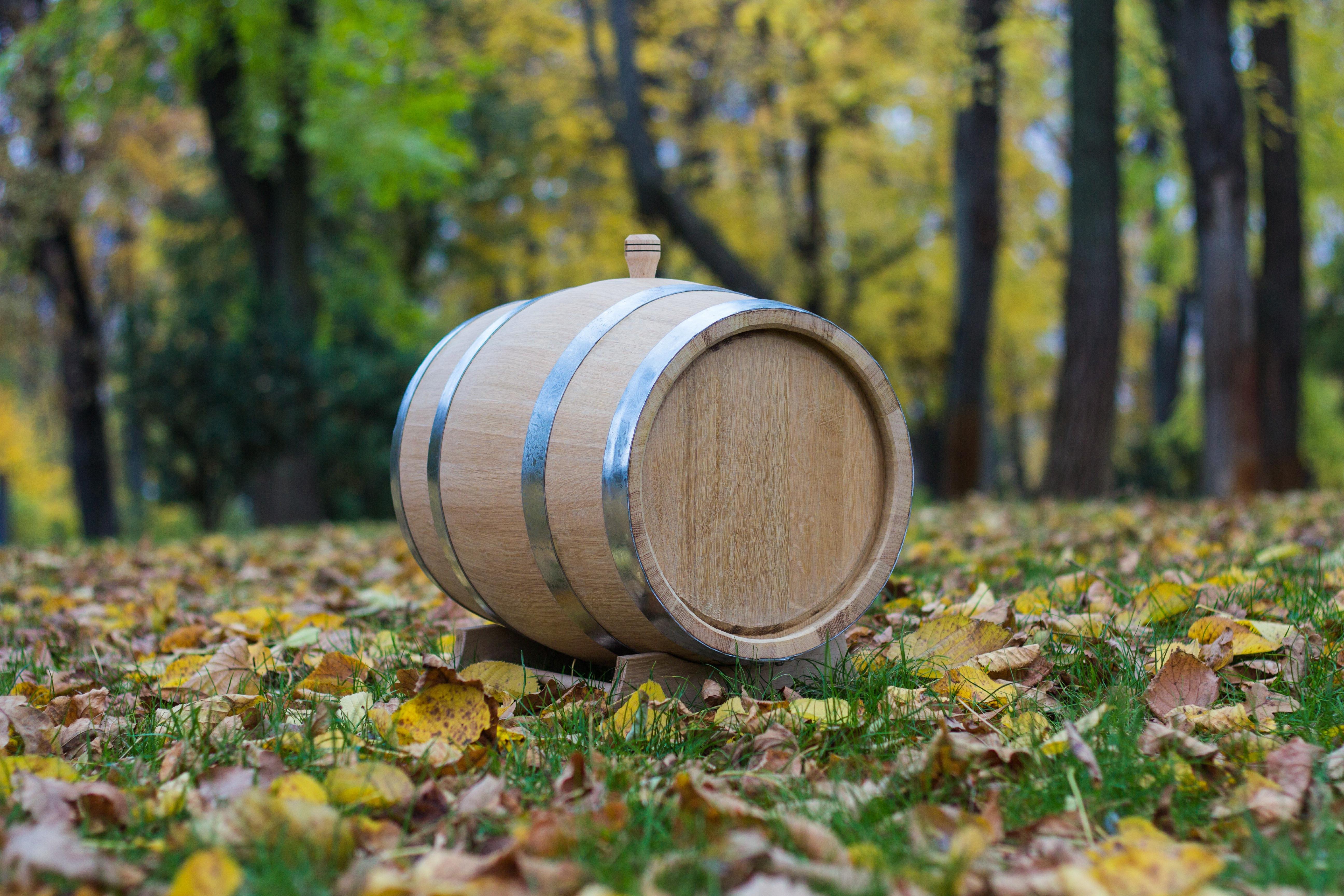 Бочка из кавказского колотого дуба 5 литров