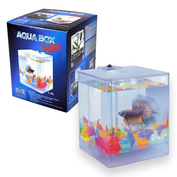 Аквариумы АА-Aquarium Aqua Box Betta А1212 Аквариум для петушков 1,3л 12*12*14,5см, 500гр, 500 гр