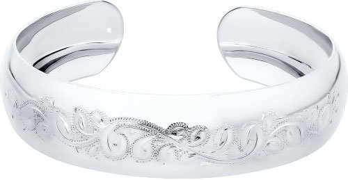 Женский серебряный жесткий браслет SOKOLOV 94050008_s, размер 17 мм