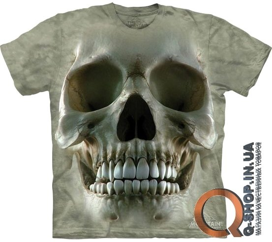 Футболка The Mountain «Big Face Skull», серый, размер: XL