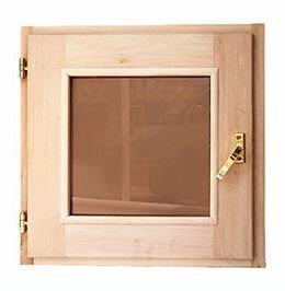 Окно для бани и саун 60х60см.