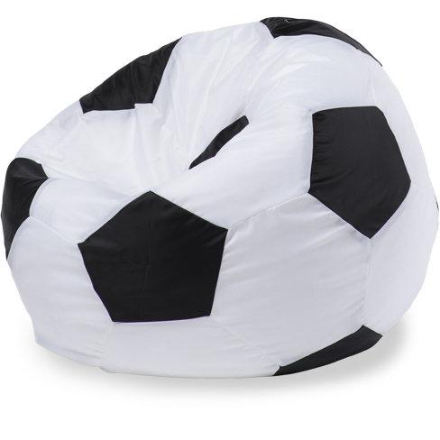 Кресло-мешок мяч L, Оксфорд Белый и черный