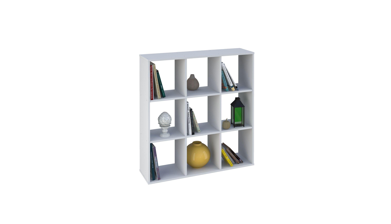 Стеллаж Polini Home Smart Кубический 9 секции, белый