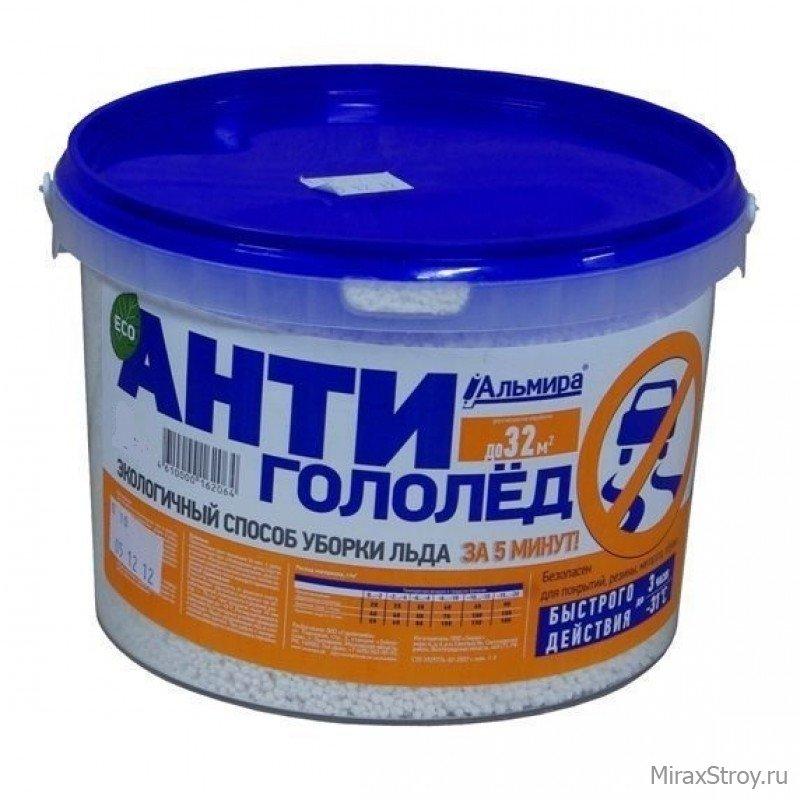 Противогололедный реагент Антигололед быстрого действия Альмира 5 кг