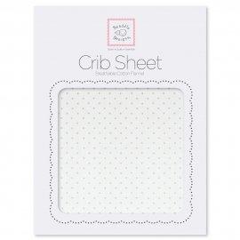 Простынь детская SwaddleDesigns Fitted Crib Sheet Pstl. Pink Dot