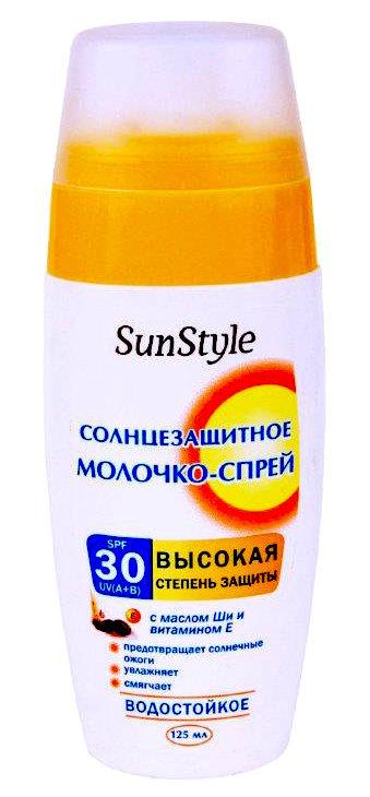 Молочко-спрей SunStyle солнцезащитное SPF-30 UV (A+B) водостойкое