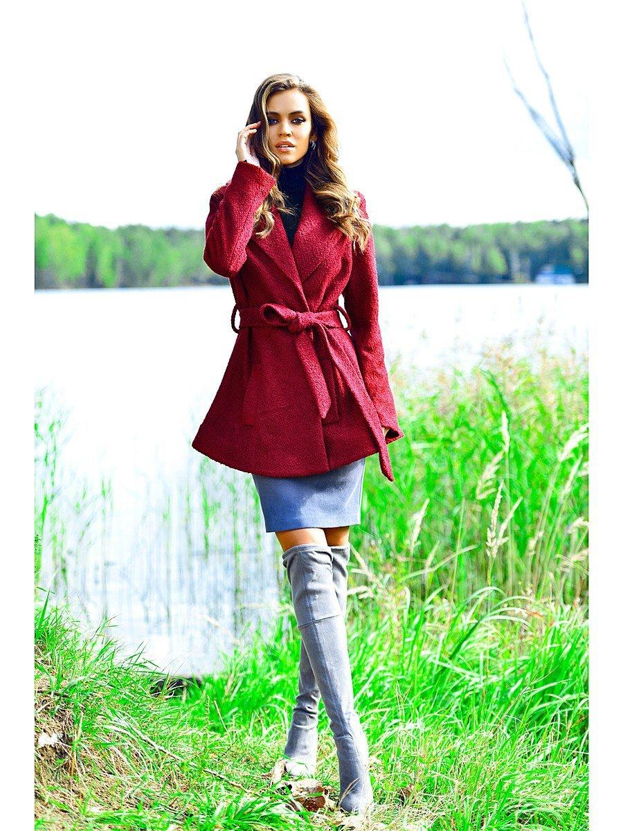 Пальто Bezko БП0031/бордовый