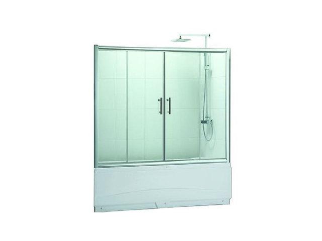 ширма на ванну OFELIS Astra 170х140 см 4 створки раздвижная