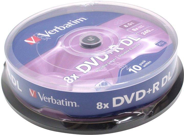 Диск DVD+R Dual Layer (двухслойный) Verbatim 43666
