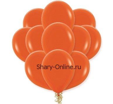 Воздушные шары с гелием «Оранжевый», пастель