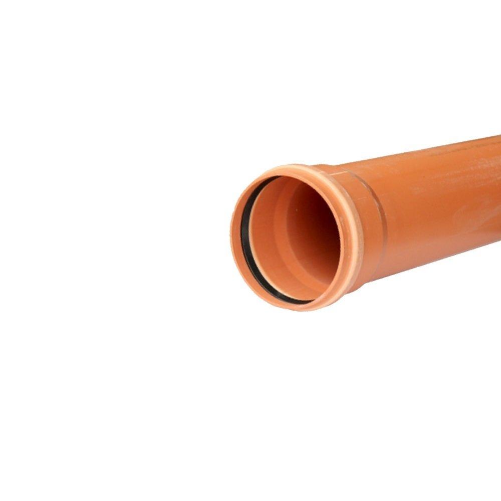 Труба водполимер 110*1000 рыжая