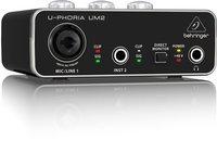 Behringer UM2 внешняя звуковая карта (звуковой интерфейс), USB2.0, 2 вх/2 вых канала