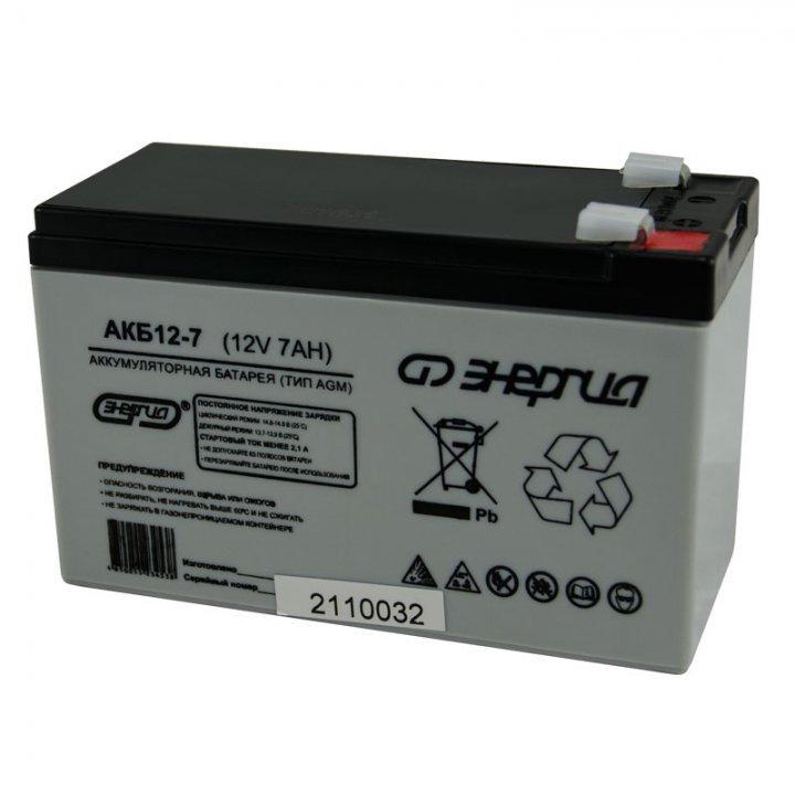 Аккумулятор Энергия АКБ 12-7 Е0201-0019