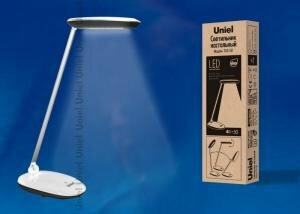 TLD-531 Black-White/4W/LED/400Lm/4500K/Dimmer Светильник настольный. Сенсорный выключатель. Диммер. Чёрный с белым. TM Uniel.