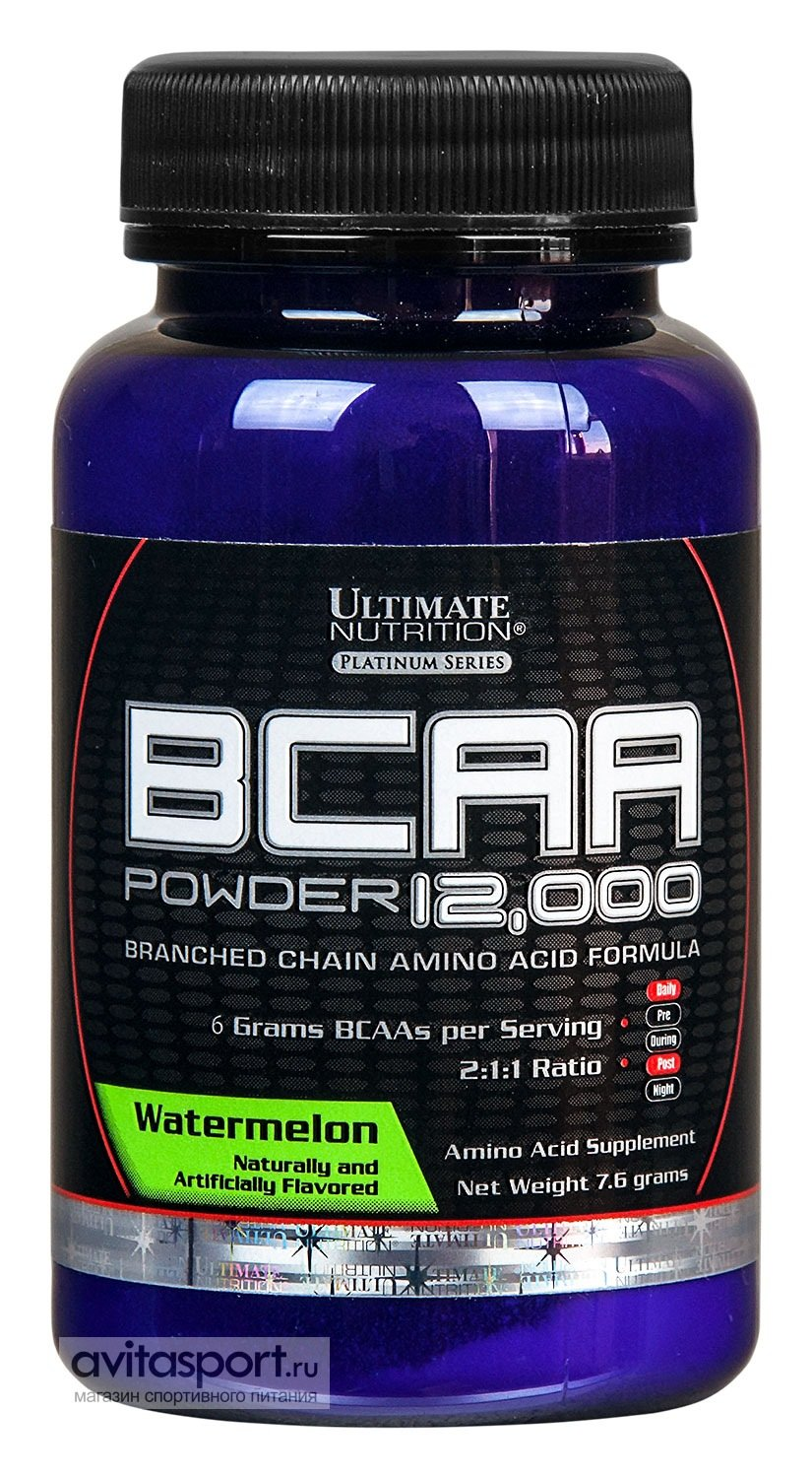 Ultimate Nutrition BCAA 12000 Flavored • 7.6 г • Watermelon / Арбуз