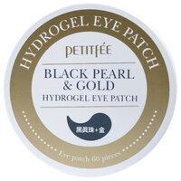 Petitfee Гидрогелевые патчи под глаза с золотом и пудрой черного жемчуга
