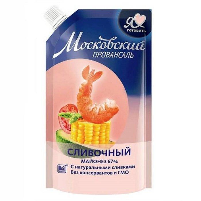 Майонез Московский провансаль сливочный 67% дой-пак 390мл.