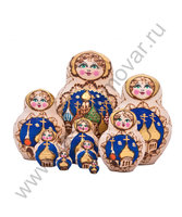 """Матрешка """"Православные купола"""" малая 10 мест"""