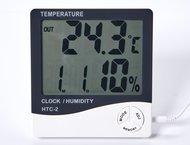 Datronn HTC-2 термометр с влажностью и часами - фото 1
