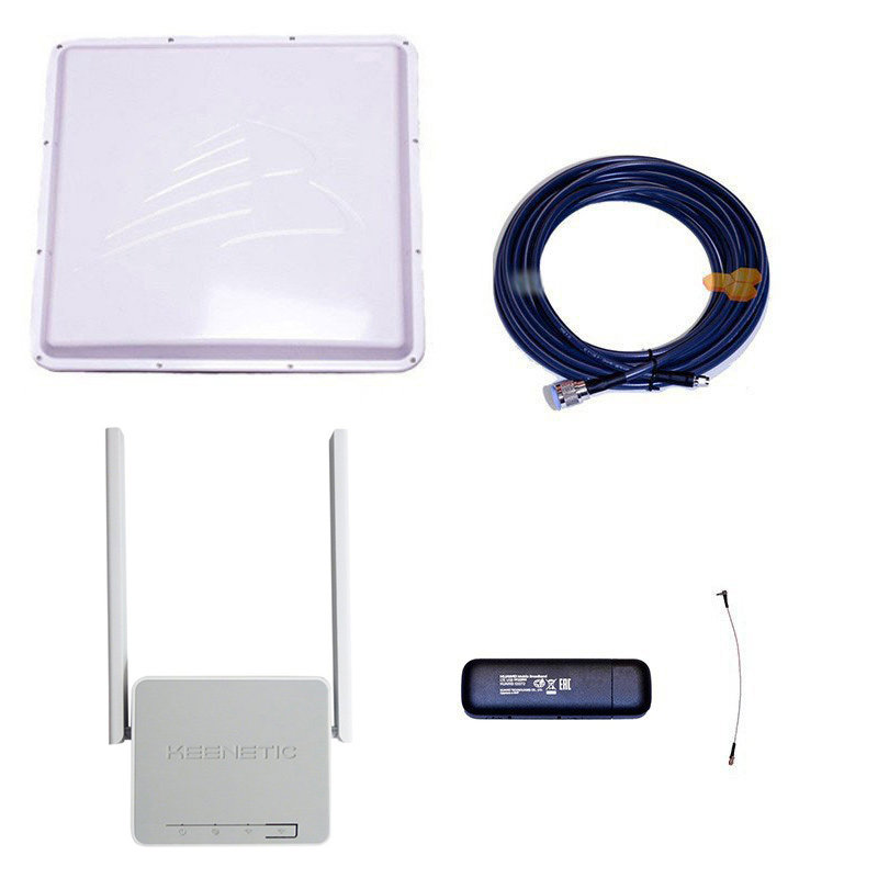 Комплект 3G/4G Дача-Максимум (Роутер WiFi, модем, кабель 5м, антенна 3G/4G 20 дБ)
