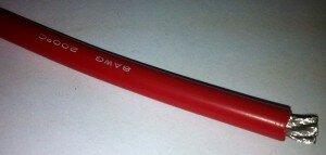 Woer Провод многожильный 8AWG, Red (1м) 8.37мм2