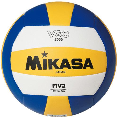 Мяч волейбольный Mikasa VSO2000, 5, желтый, Любительский, Машинная сшивка