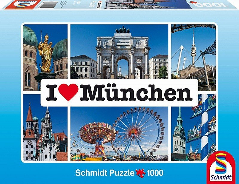 Пазл Schmidt Я люблю Мюнхен 1000 шт.