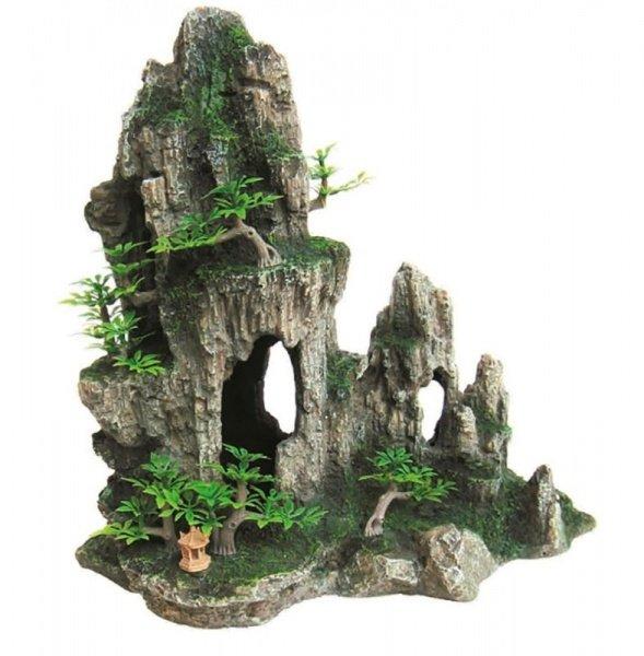 Грот/пещера Prime Декорация пластиковая Грот 28.5x16.5x28.5см