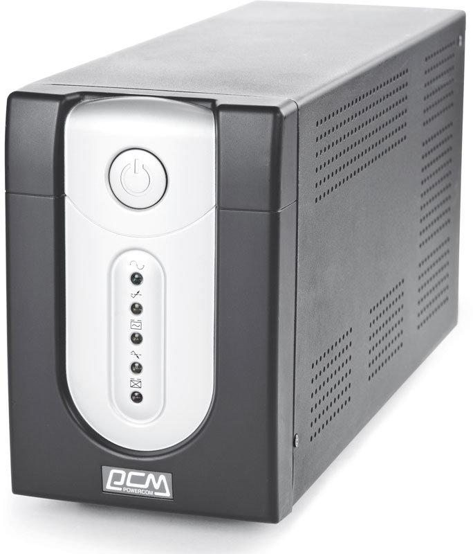 ИБП Powercom IMPERIAL 1500ВА 1 аккумулятор 12v 9ah линейно-интерактивные напольный АКБ: с 2 встроенными акб 130х382х192 (ШхГхВ) 230V однофазный Ethernet (IMP-2000AP)