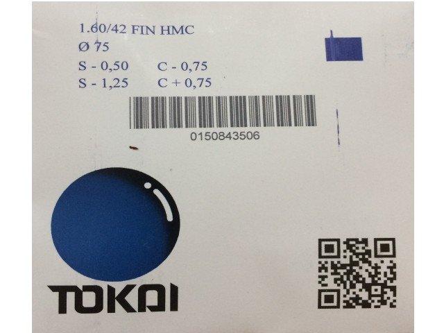 Линзы для очков Tokai очковая линза 1.60 UV HMC