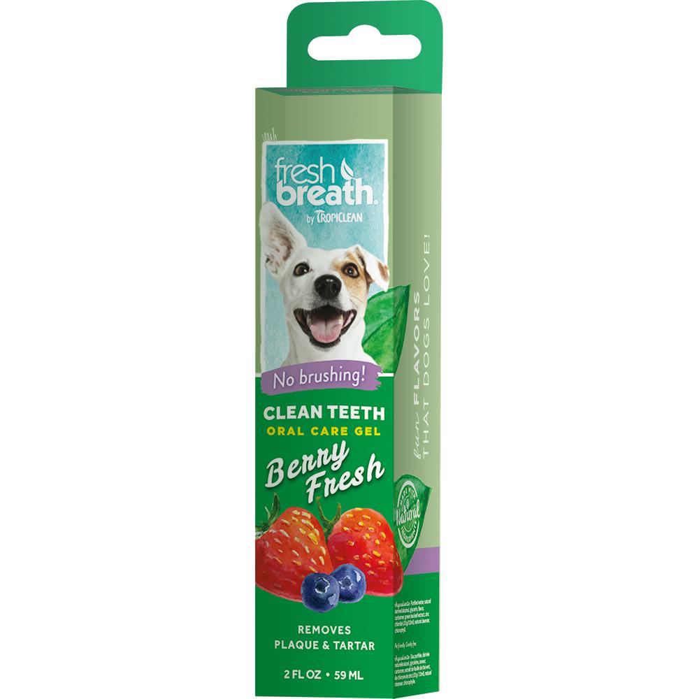 Гель для чистки зубов TROPICLEAN ягодный для собак, 59 мл