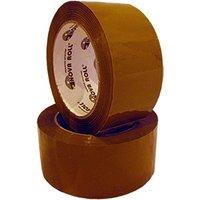 NoName Клейкая лента упаковочная 48ммх66м, 45мкм, коричневая
