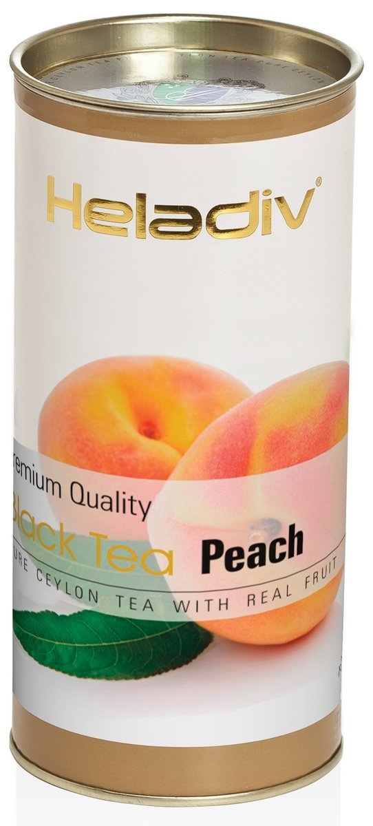 Чай Heladiv peach черный листовой 100гр