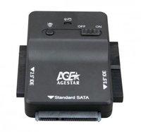 Док-станция для HDD 3,5' AGESTAR 3FBCP1 SATA/IDE пластик черный