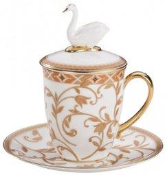 Prouna Набор бокалов Swan с терракотовым орнаментом