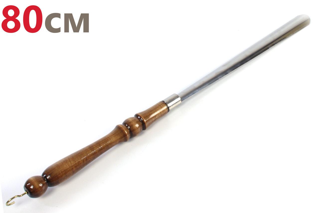 Ложка (рожок) для обуви 80см (деревянная ручка, стальное основание)